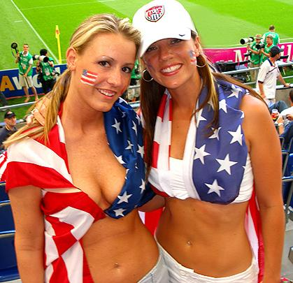 Team USA have some lovely supporters at the World Cup