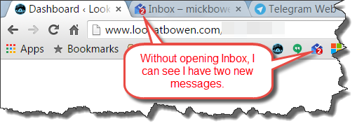 inbox notification