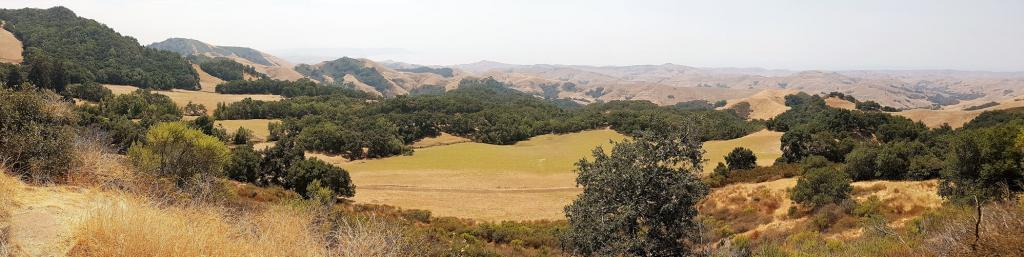 A view of the rolling hills from Green Valley Road, Route 46