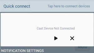 Cast device not connected icon on my Samsung Galaxy S7 Edge.