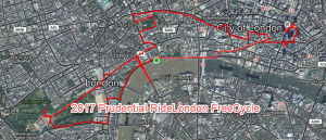 Bowen rode the 2017 Prudential RideLondon FreeCycle on a Brompton bicycle.