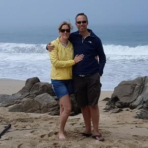 Mike & Jo at misty beach