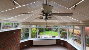 Our conservatory blinds are ultra smart and remote controlled.