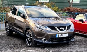 Our last diesel fill-up on our 2014 Nissan Qashqai Tekna.