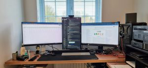Three LCD monitors plus DisplayFusion equals efficiency
